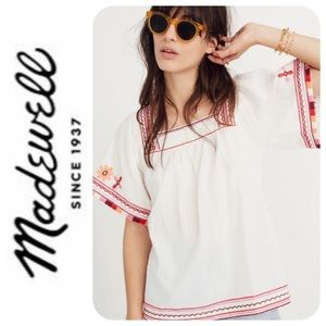 Madewell Embroidered Sandblossom Top - S , NWOT